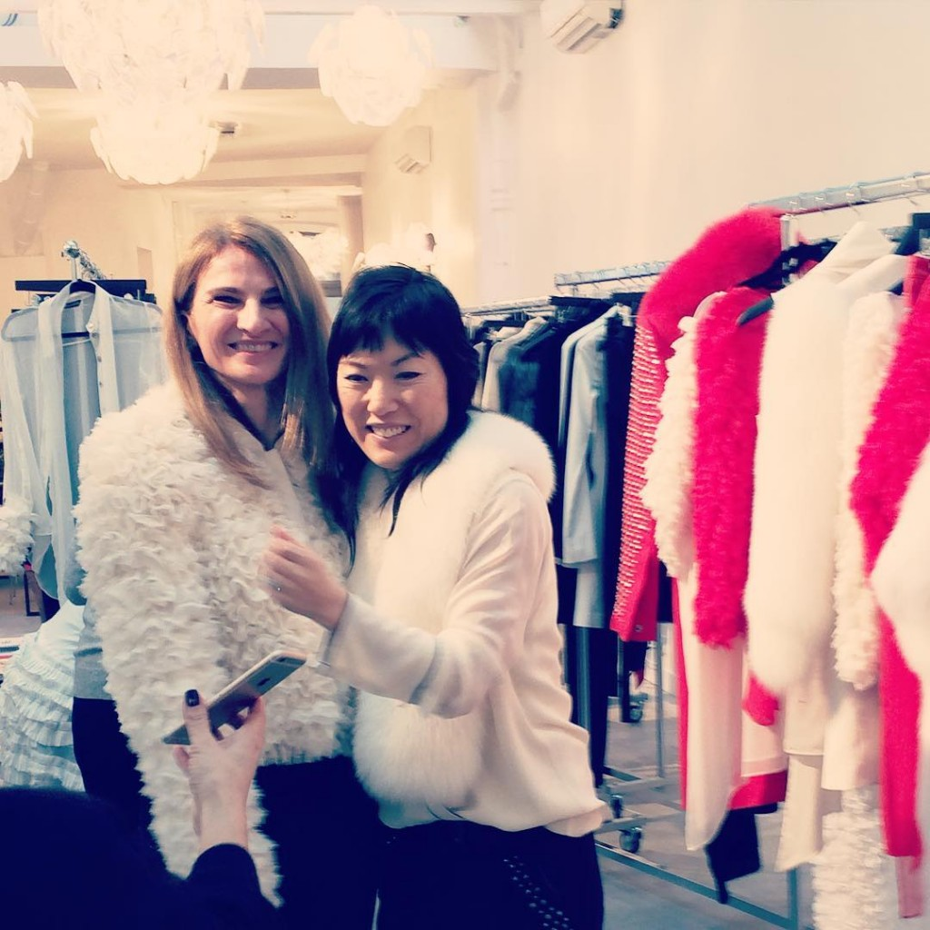 Lovely to meet @jene_park from @thomaswyldeofficial in Paris. #pfw16 #paris #thomaswylde #newcollection #white #dreamingof #dazzlingstories