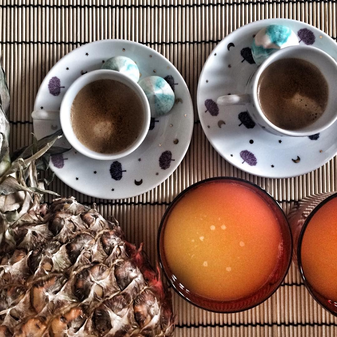 Morning coffee needmydose coffeeaddict pineapple morning sundaymorning orange breakfast instadailyhellip