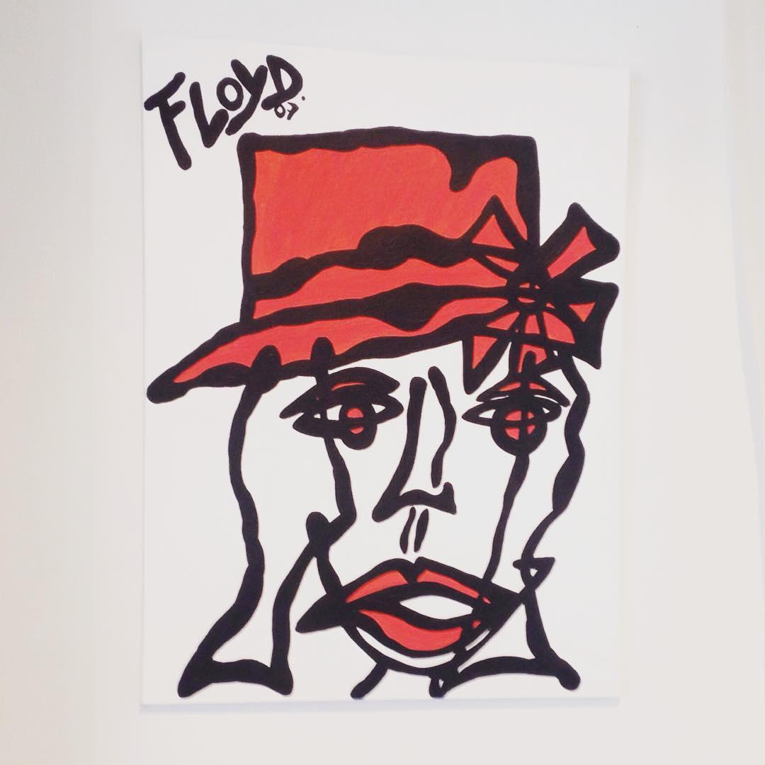 Seen on the wall miamibeach beautifulday miami floyd art artist