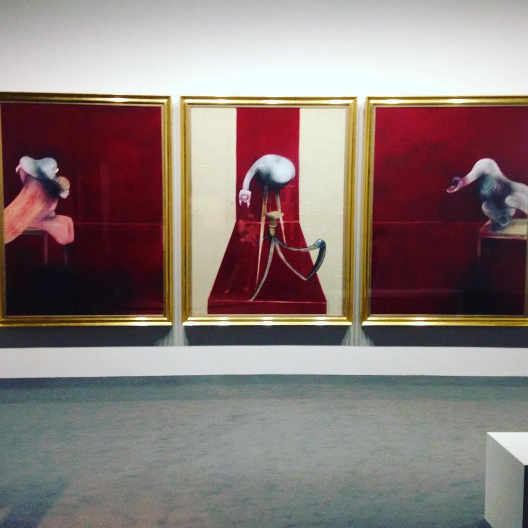 Francisc Bacon Triptique franciscbacon art grimaldiforum exhibition paiting montecarlo monacohellip