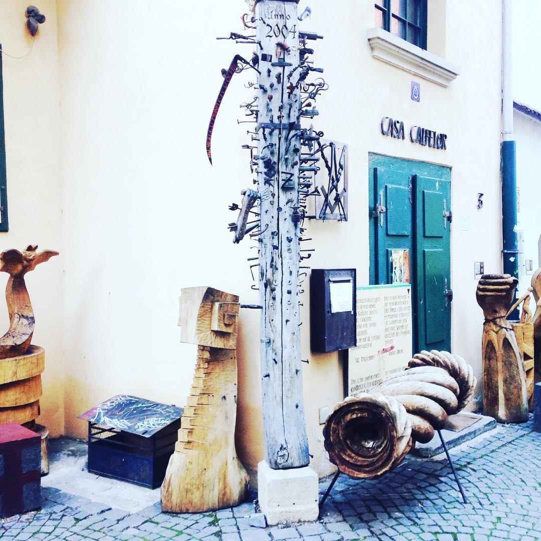 Streets of Sibiu dreamingof amazingplaces seenonthestreet art handmade wood travelhellip