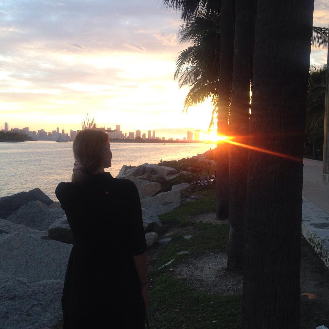 Sunset miamibeach sunset travel beautifulday palmtrees miami allaboutme nofilter