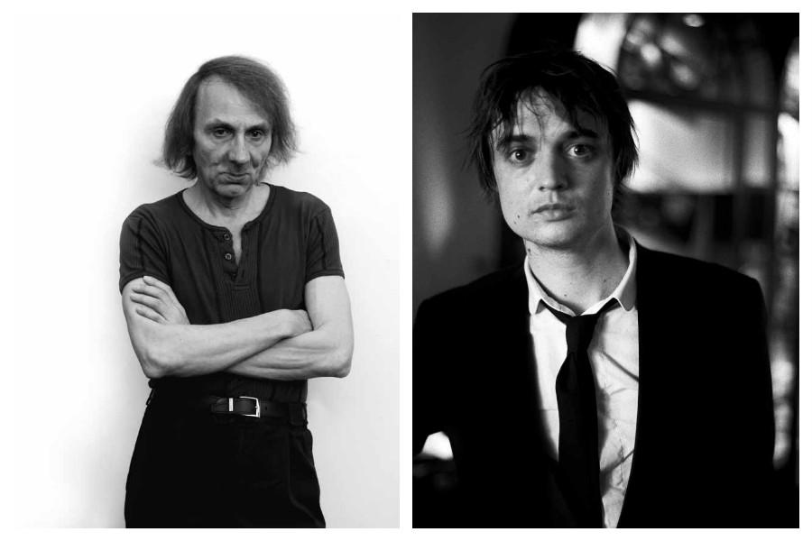 Mart Engelen, Michel Houellebecq, Venice 2014, copyright Mart Engelen / Mart Engelen, Pete Doherty, Montreux 2008, coypright Mart Engelen