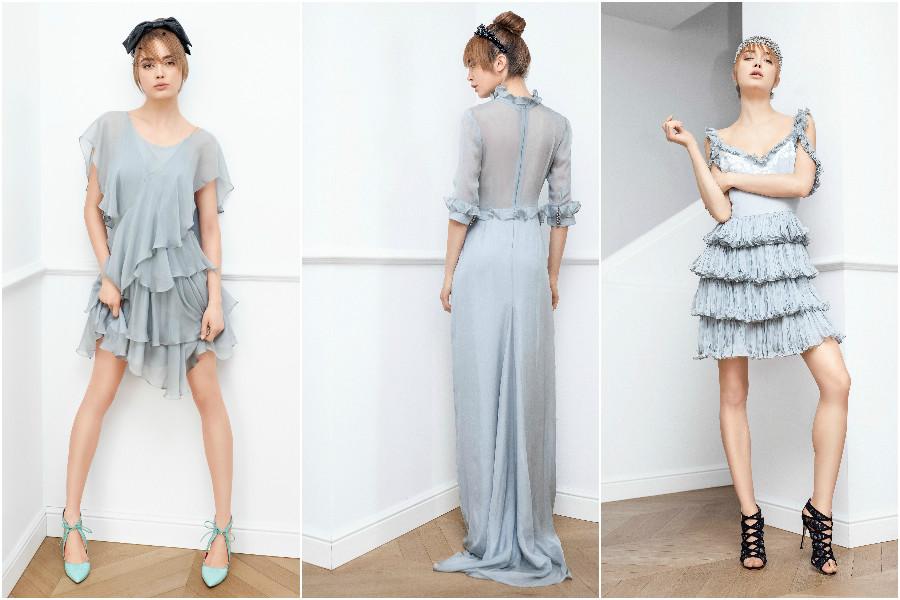 Aida, Anna, Daphne dresses, Parlor