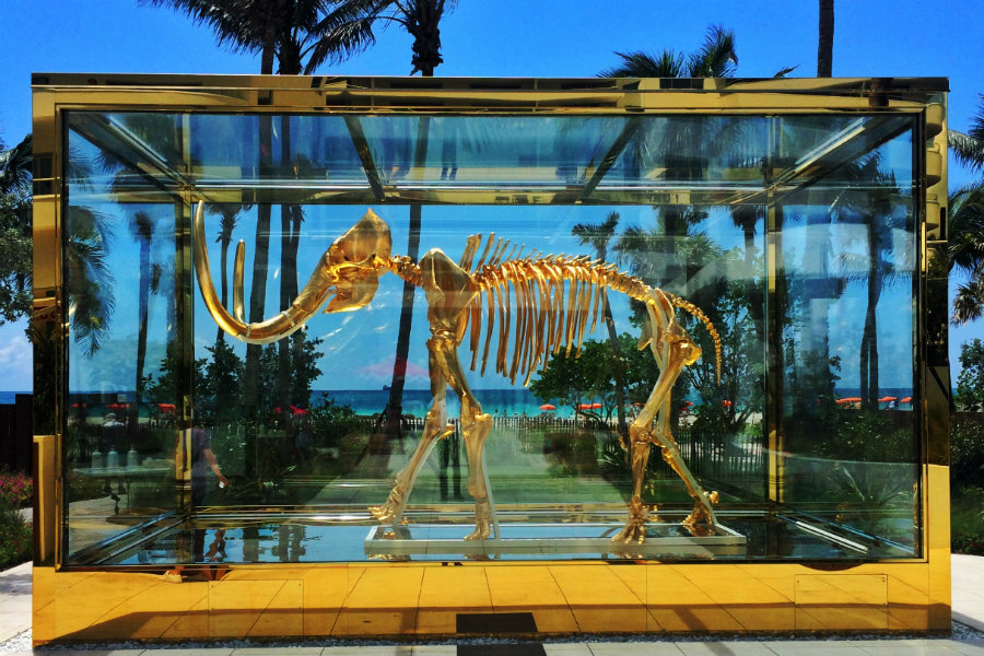 Nine-Foot Gilded Mammoth at Faena Hotel Miami Beach