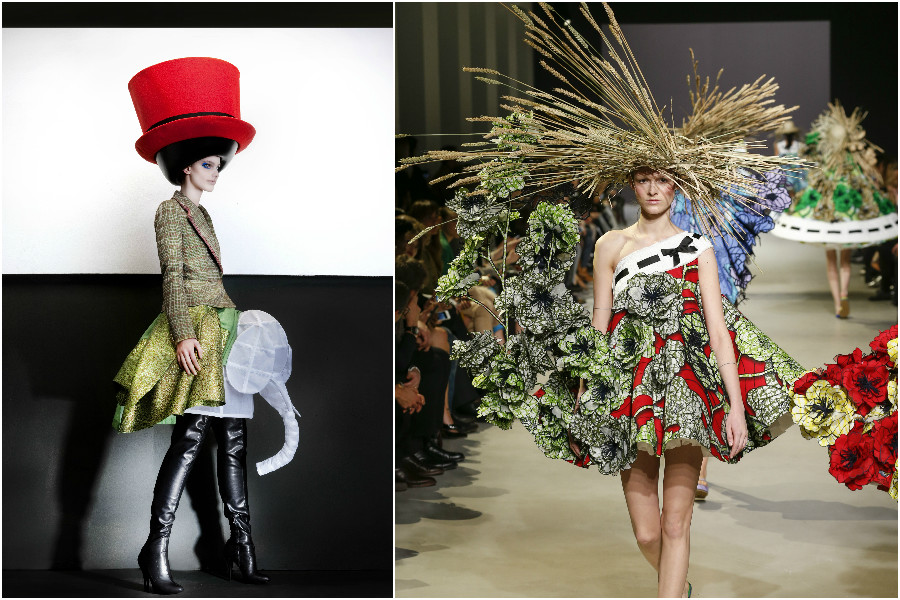 Walter van Beirendonck FallWinter 2010.2011 Hat Stephen Jones (c) Ronald Stoops. Viktor&Rolf Haute Couture SpringSummer 2015 Van Gogh Girls (c) Team Peter Stigter