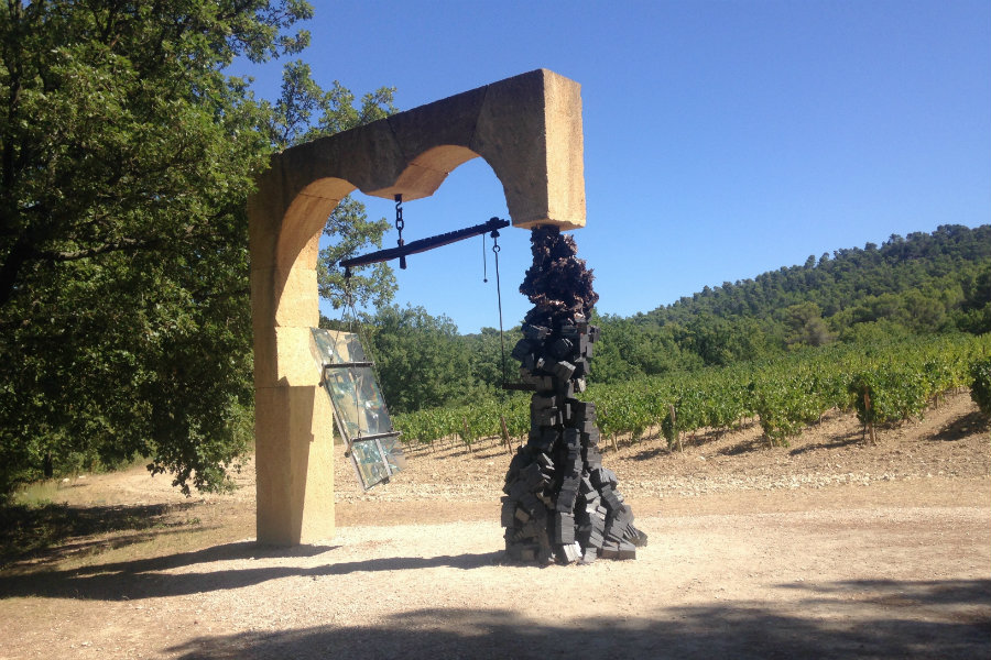 Chateau la Coste art display