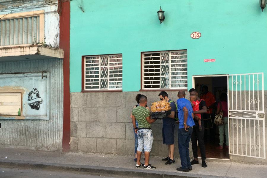 Havana Cuba locals street food