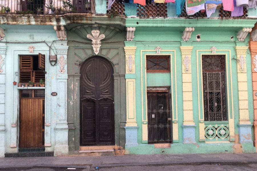 Cuba Havana street buildings