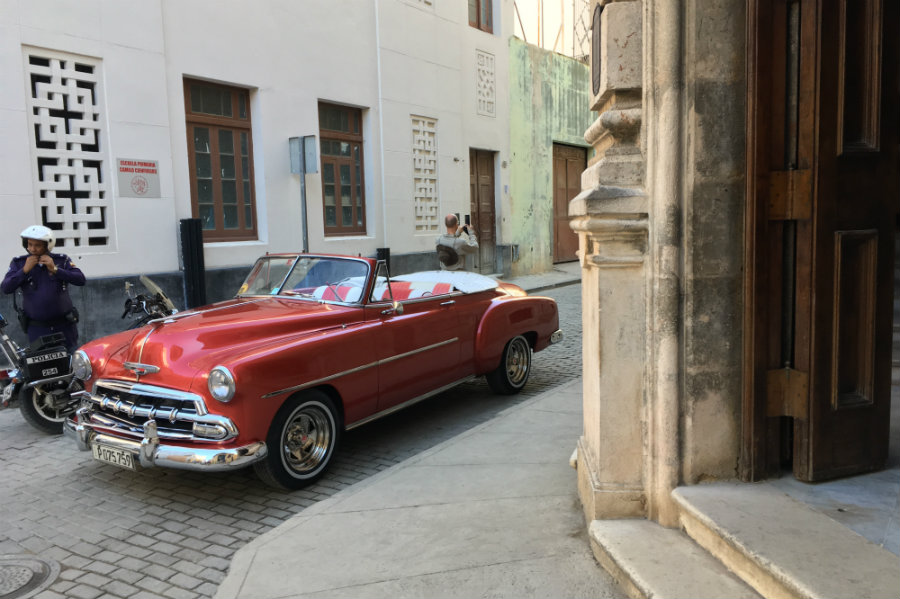 Havana Cuba retro car convertible