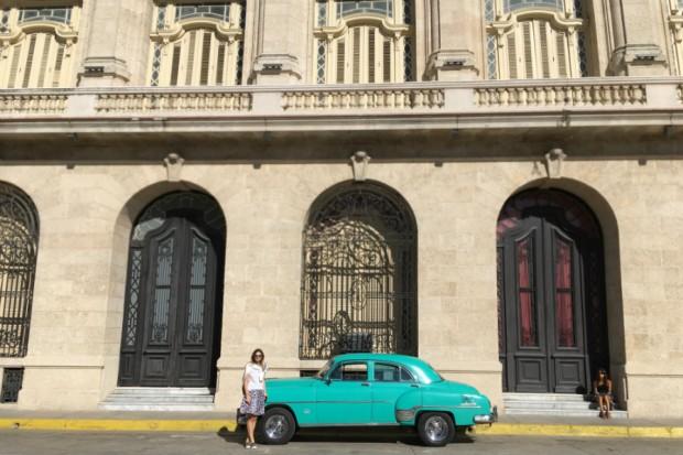 Havana Cuba retro car green