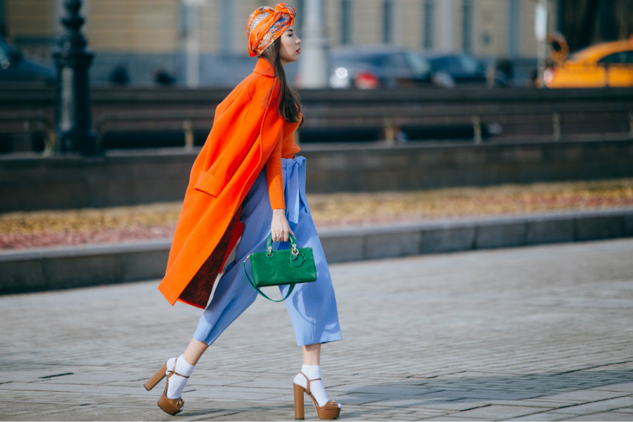 streetstyle look Fashion Week Russia