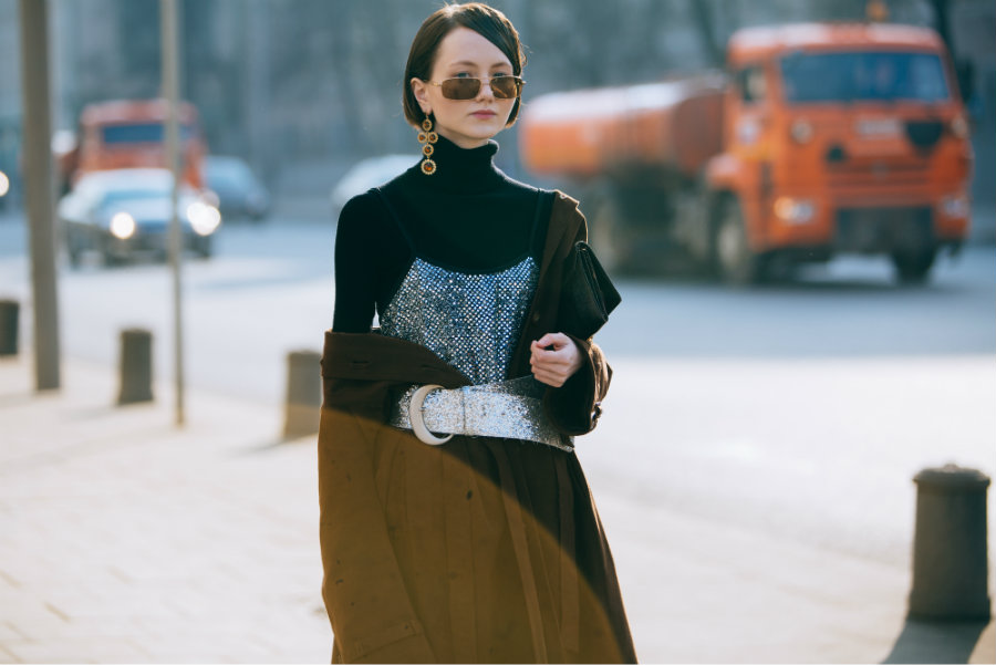 Russia Fashion Week look streetstyle