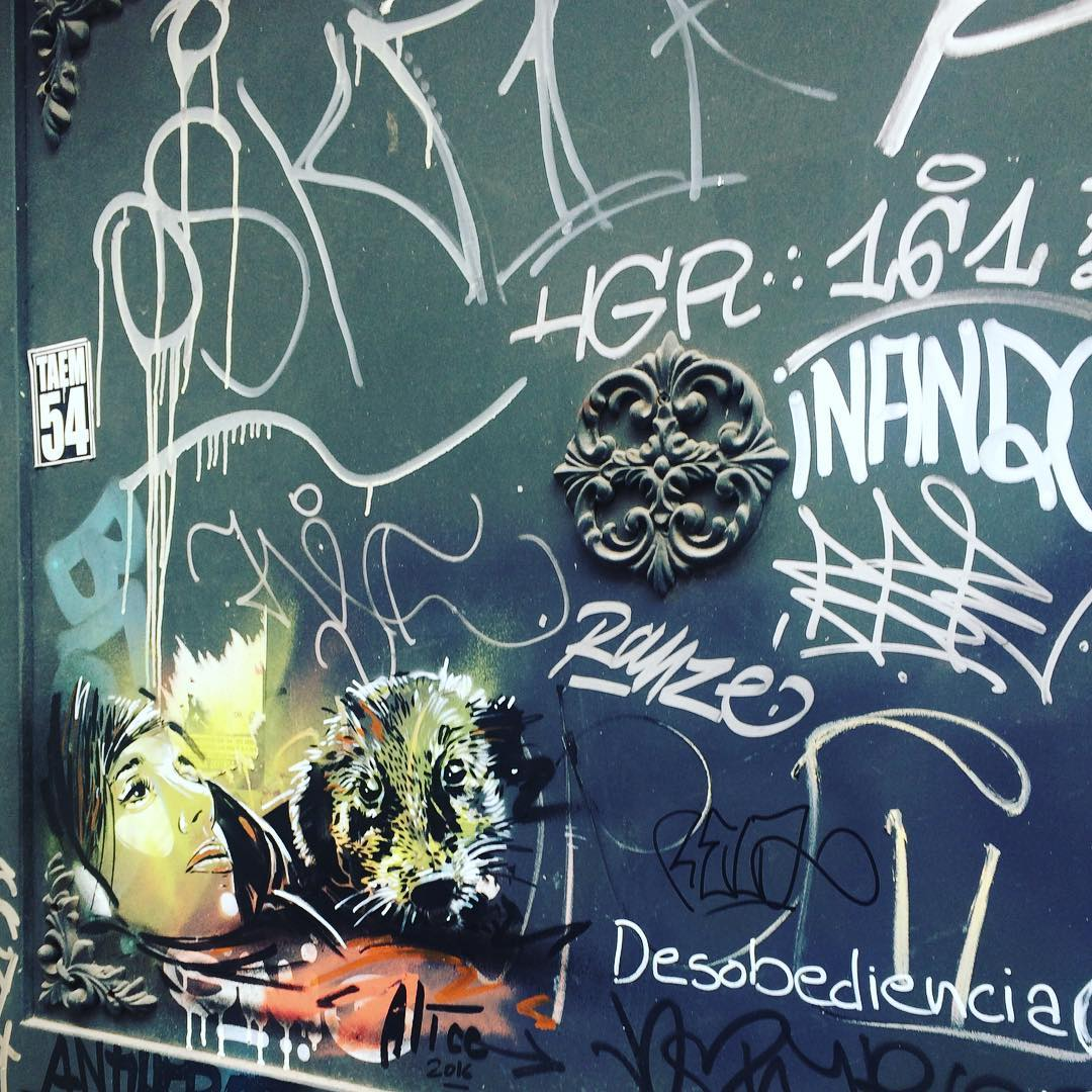 And the little one piece of streetart alicepasquini fun escapehellip