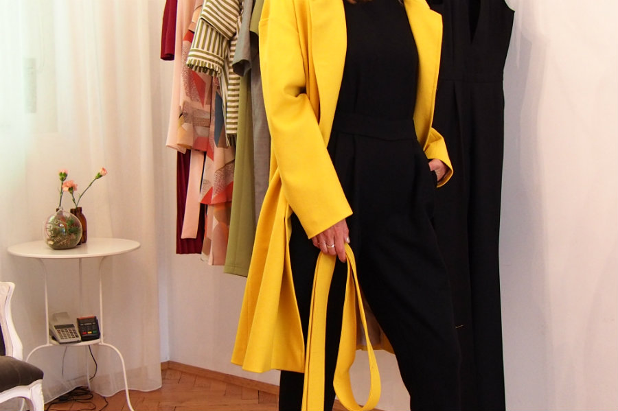 Chemistry yellow coat