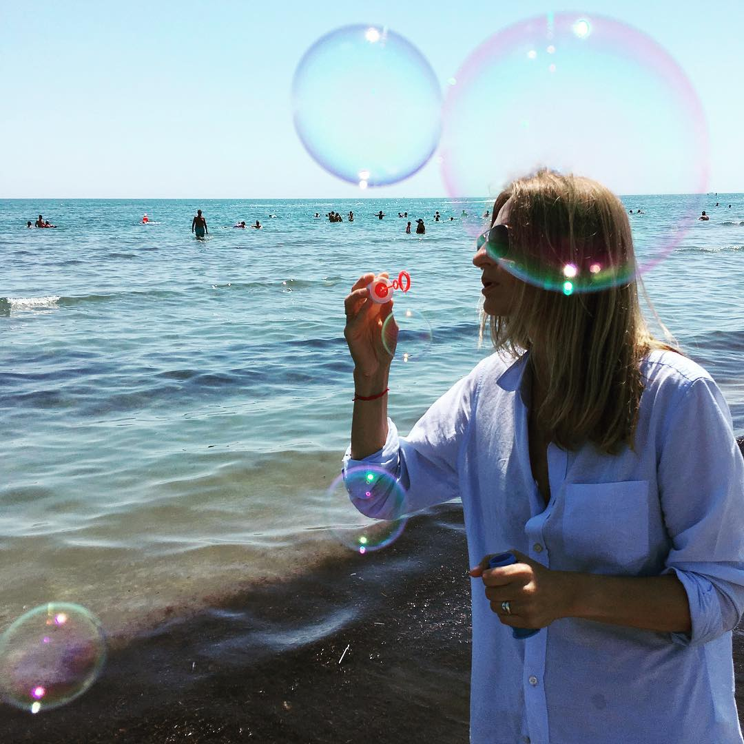 Bubbles happiness ontheroad bythesea bluemood bubbles sea sand sun sunchaserhellip