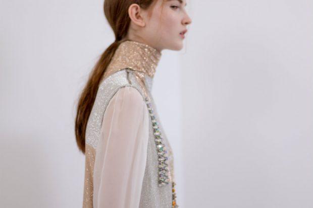 swarovski schiaparelli crystal dress