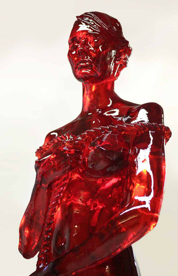 Joseph Marr Vanitas Cola, 2016 sugar, resin and cola flavor 100 x 30 x 30 cm Copyright Joseph Marr, courtesy Galerie Freitag 1830