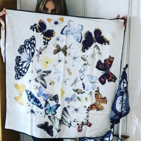 Magical world of KeszegAgnes scarfs butterfly designer MadeInRomania instafashion hellip