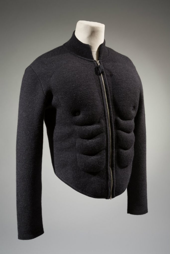Jean Paul Gaultier, sweater, wool, 1991, France, gift of Richard Martin.