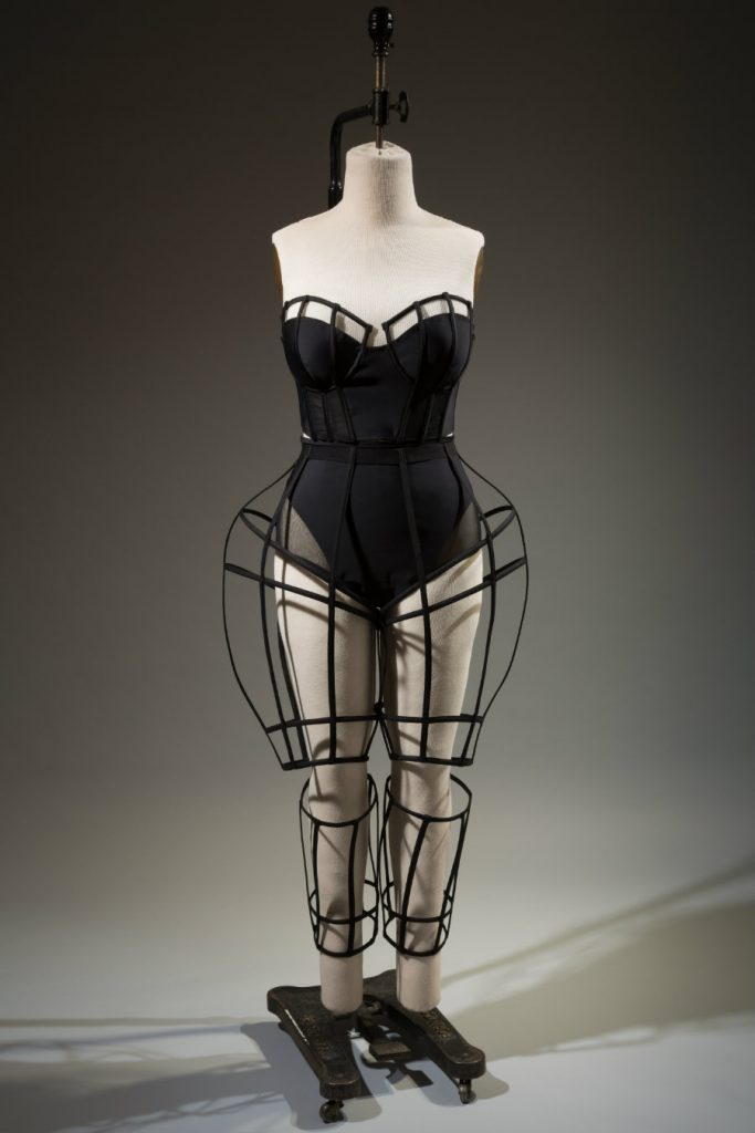 Chromat, ensemble, spandex and plastic boning, spring 2015, USA, museum purchase.