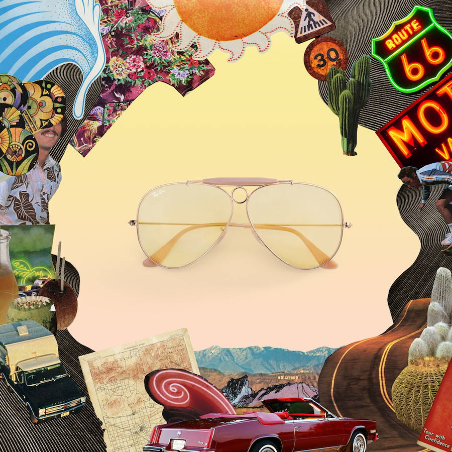 Ray Ban Reinvented_Aviator_Ambermatic_Shooter