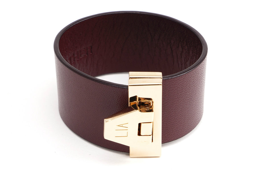 LIA burgundy leather