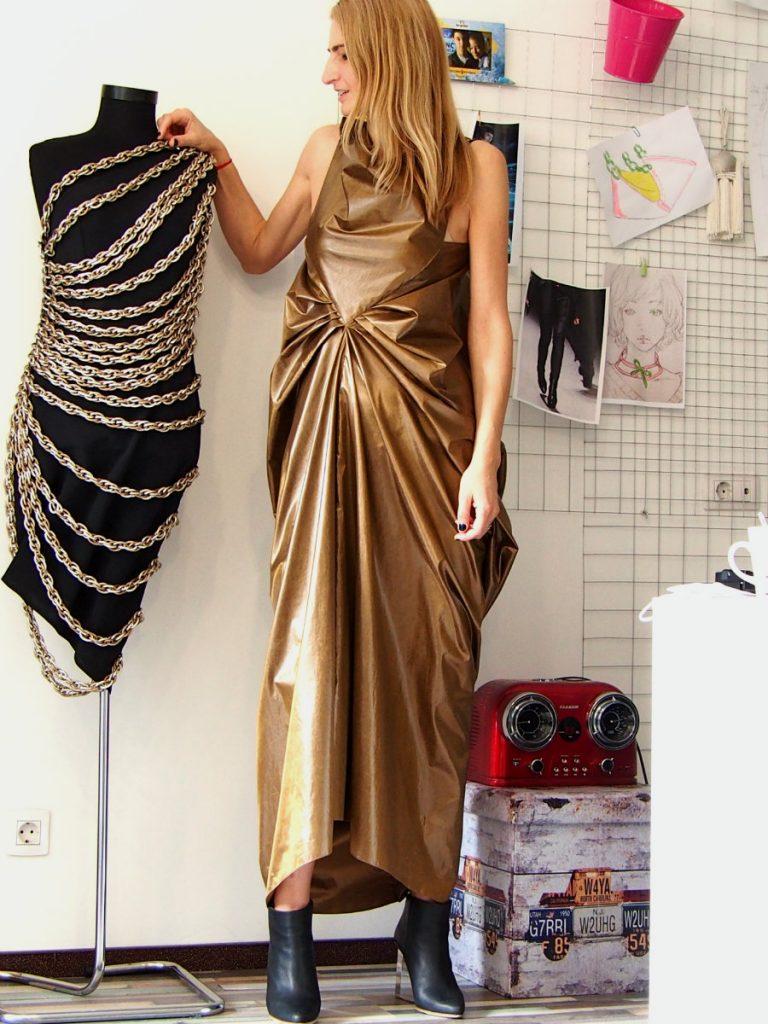 chaotic metallic dress