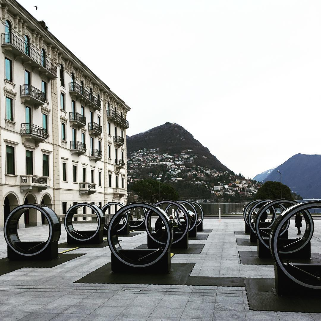 Interesting view in Lugano laclugano art lugano lakeLugano Switzerland travelhellip
