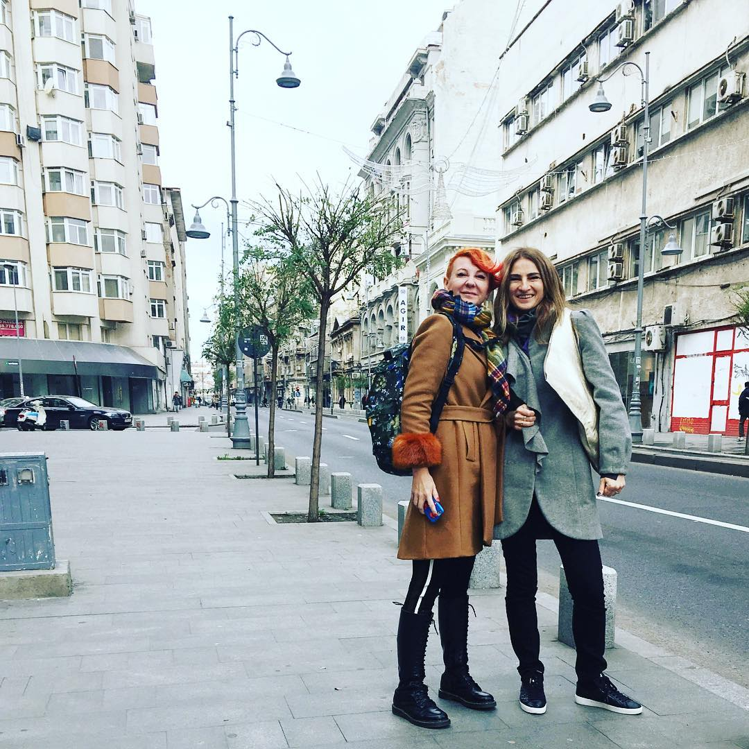 Friends in the city anaisgri bff allaboutme Bucharest wintertime beautifulday