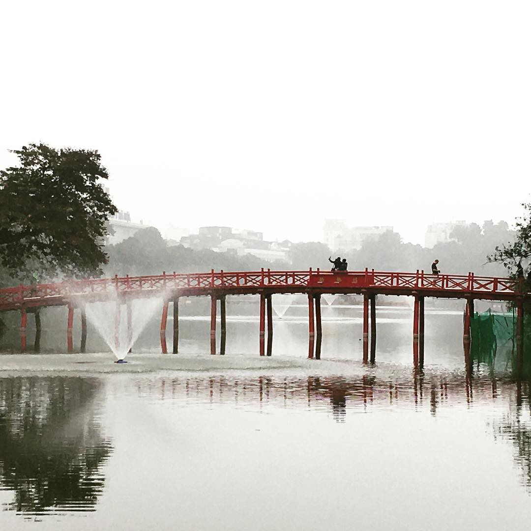 Foggy morning in Hanoi Vietnam TravelerInVietnam Hanoi holidayvibes travel postcardhellip