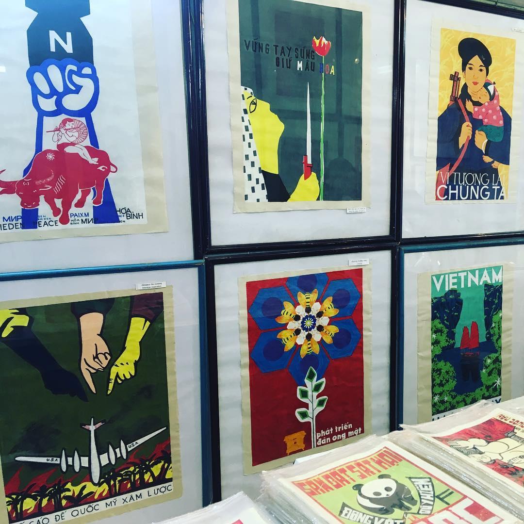 Old propaganda posters inHanoi Vietnam TravelerInVietnam posters colours cityvibes arthellip