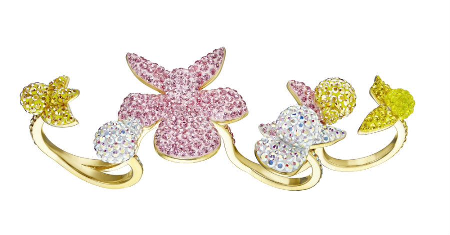 Swarovski LIGHT ORCHID RING (1)
