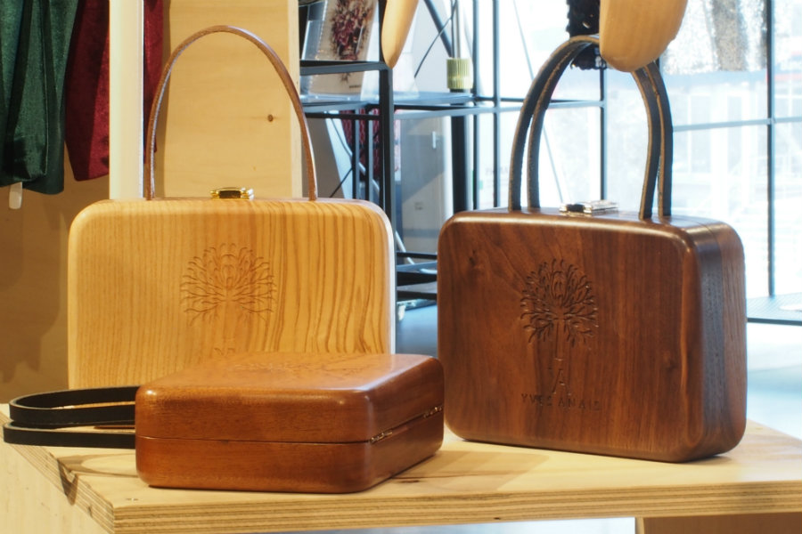 Yves Anais wooden bags collection