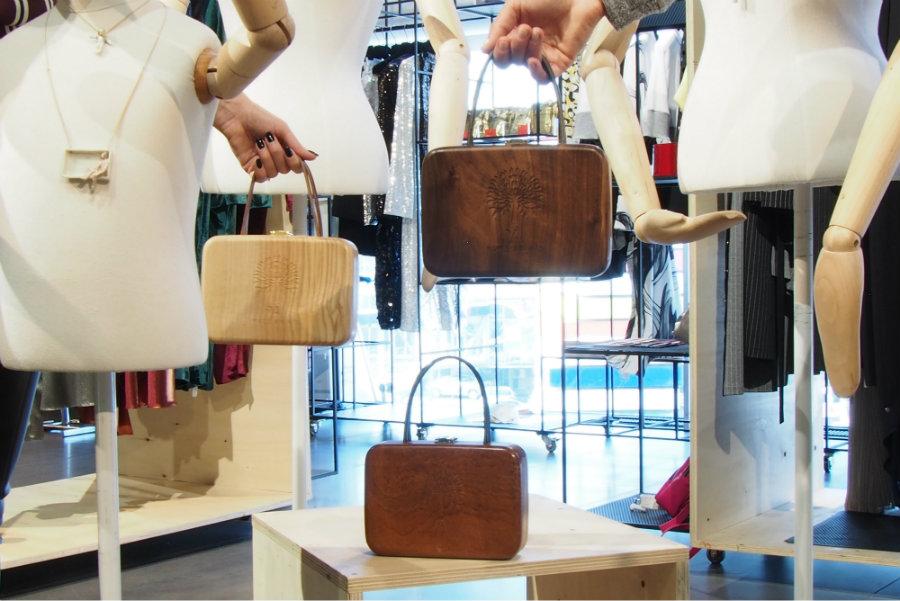 wooden bags Yves Anais