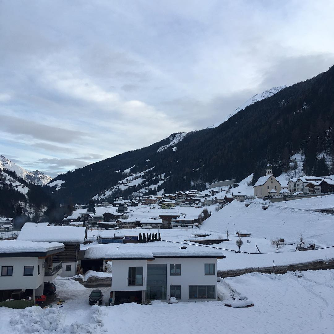 Morning view seetirol see skigebietsee seetirol mountains snow whitemood travelhellip