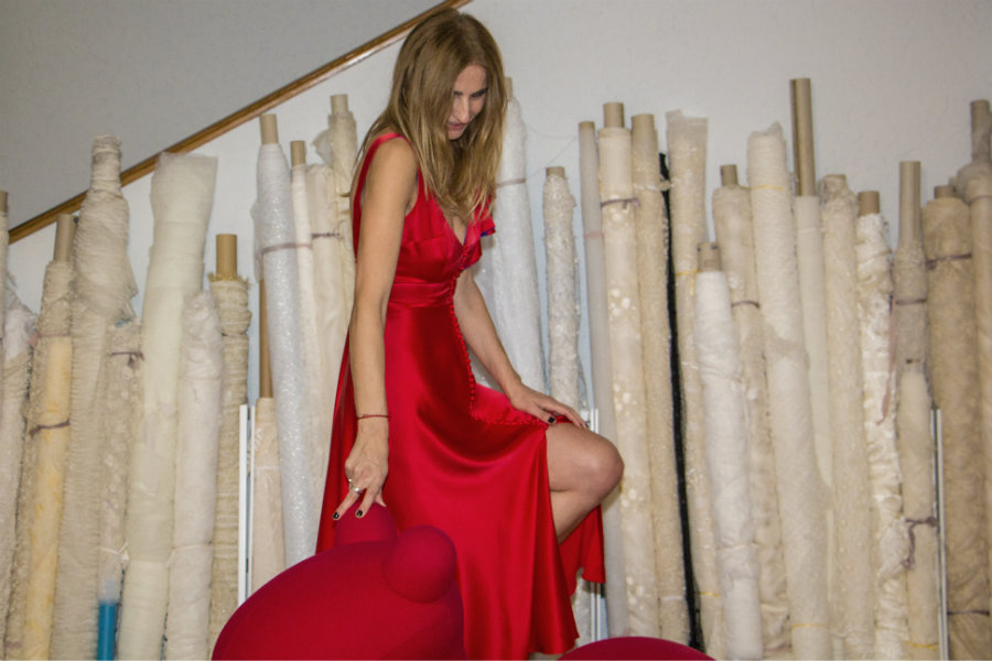 parlor red dress