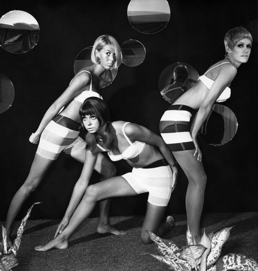 Three models wearing underwear designed by Mary Quant, c. 1966 © Otfried Schmidt, ullstein bild, Getty Images