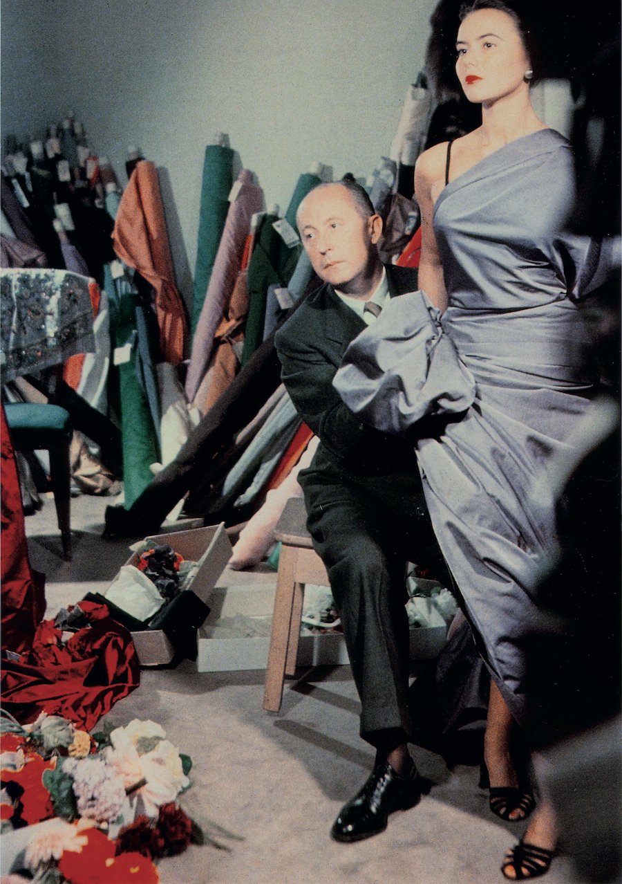 Christian Dior with model Sylvie, circa 1948. Courtesy of Christian Dior