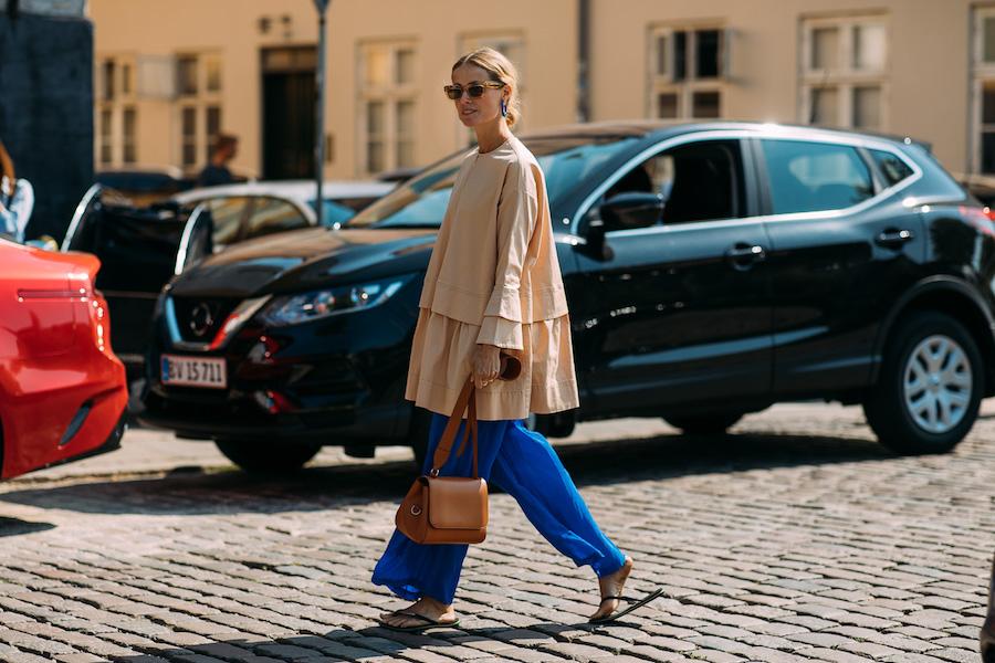 copenhagen fashion week street style ss19 blue city