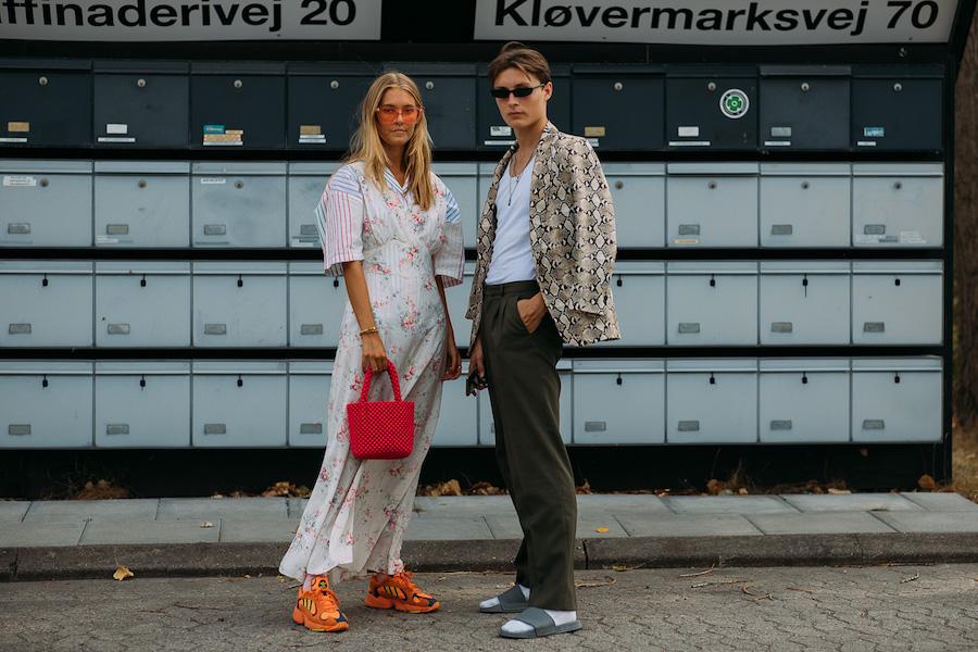 copenhagen fashion week street style ss19 couple