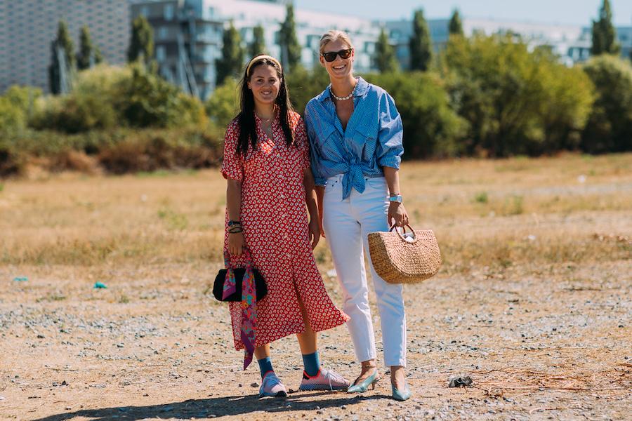 copenhagen fashion week street style ss19 girls blue