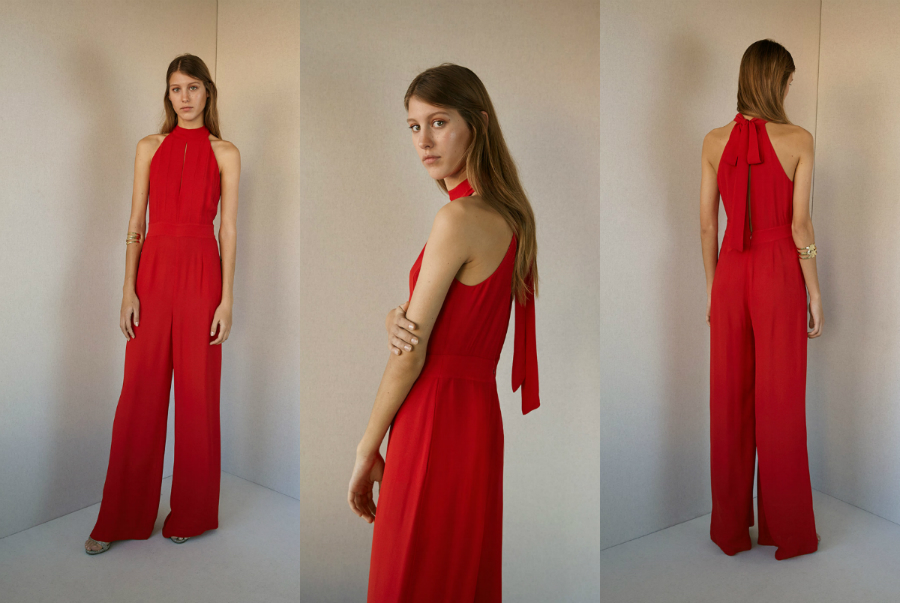chic jumpsuit red