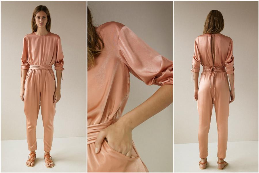 jumpsuit pink details