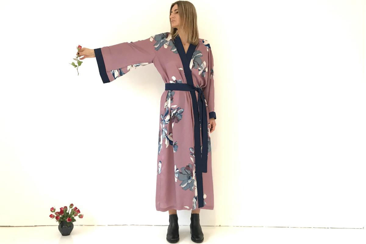 kono kimono pink