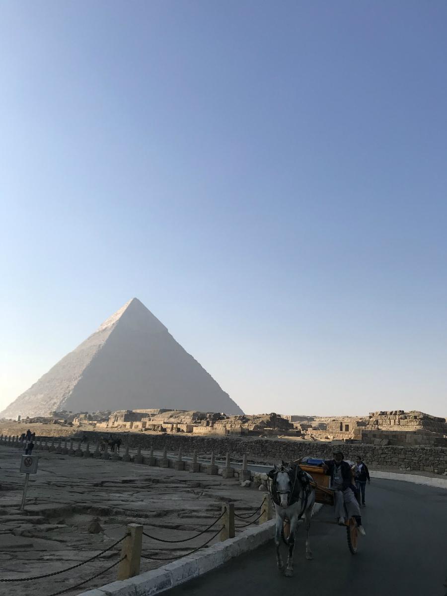 pyramids morning