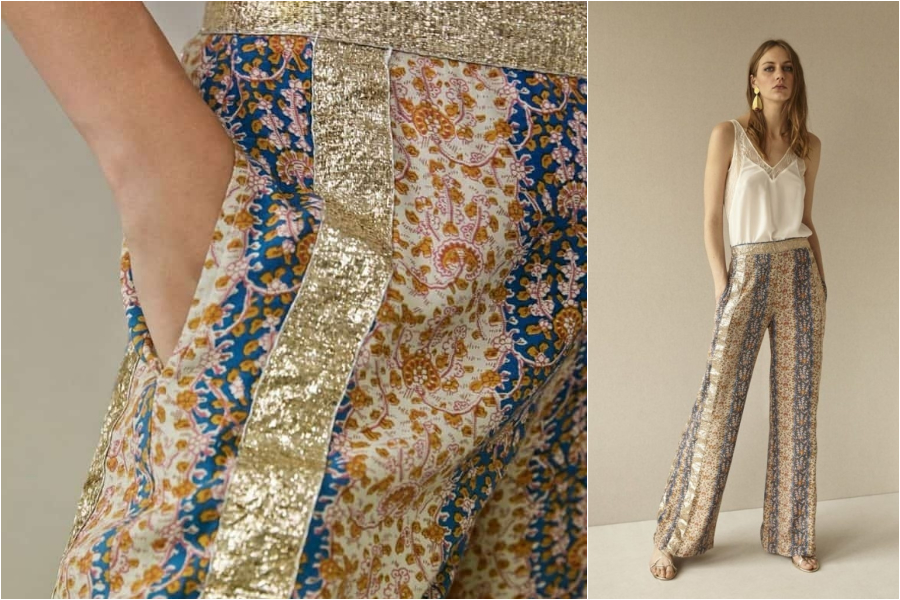 chic paris bucarest silk pants