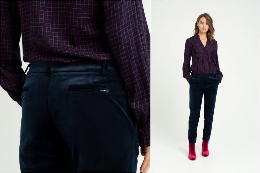 chic paris bucarest velvet pants