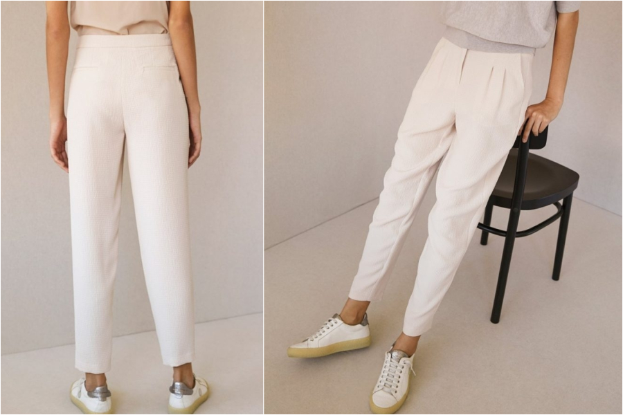 chic paris bucarest white pants