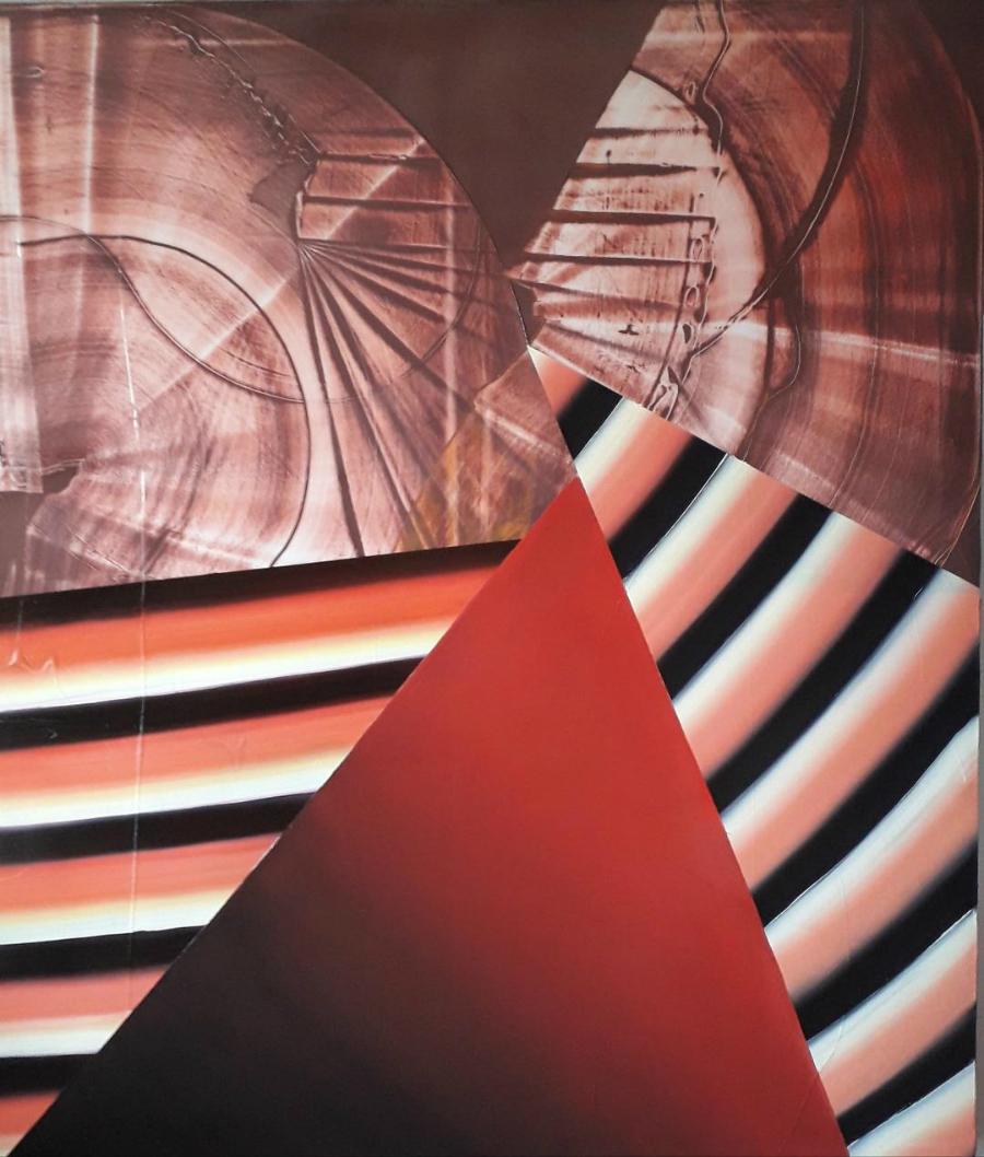 Stepped Pyramids 1 150x130cm 2019